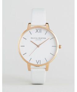 Olivia Burton | Часы С Большим Белым Циферблатом И Кожаным Ремешком Oliva Burton