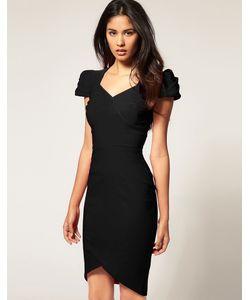 Hybrid | Платье С Вырезом Сердечком И Асимметричным Подолом Красный