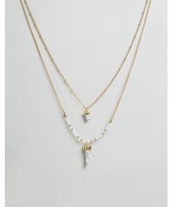Ashiana | Multi Layerbead Necklace With Stone Detail