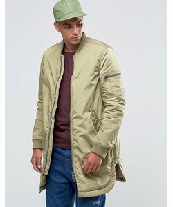 ADPT | Легкая Длинная Куртка-Пилот Сушеные Травы