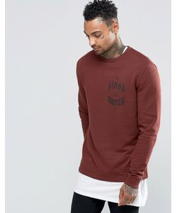 Asos | Sweatshirt In Chestnut With Chest Print Chestnut