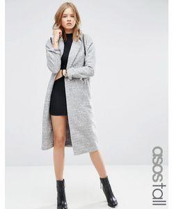 ASOS TALL | Пальто Средней Длины С Рукавами Летучая Мышь Серый