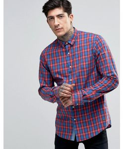 SCOTCH & SODA | Shirt In Navy/Red Check In Regular Fit In