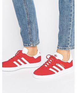 Adidas | Красные Замшевые Кроссовки Originals Gazelle Красный