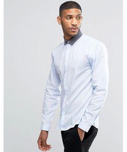 Lindbergh | Рубашка С Контрастным Воротником Синий