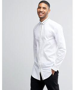 Lindbergh | Рубашка С Контрастной Отделкой Белый