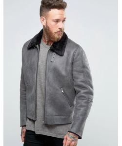 Asos | Серая Куртка Из Искусственной Цигейки Серый