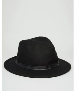 Asos | Мягкая Фетровая Шляпа С Тесьмой Из Искусственной Кожи