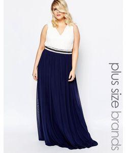 Forever Unique Plus | Платье Макси В Греческом Стиле С Отделкой