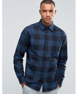 D-Struct   Рубашка В Крупную Клетку Темно-Синий