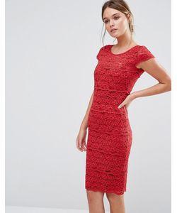 Body Frock | Кружевное Моделирующее Платье Jasmine Красный