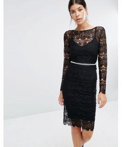 Body Frock | Кружевное Платье С Моделирующим Эффектом Sylvie Черный