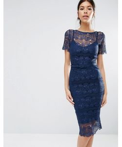 Body Frock | Кружевное Платье С Моделирующим Эффектом Lisa Темно-Синий