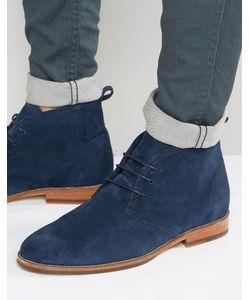 Bobbies | Замшевые Ботинки На Шнуровке Le Monsieur Темно-Синий