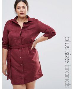 NVME | Платье-Рубашка Из Искусственной Замши Port