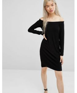 Weekday   Платье С Открытыми Плечами Черный