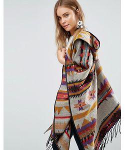 Jayley | Oversize-Пальто С Геометрическим Принтом Коричневый