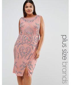 Lovedrobe Luxe | Платье Миди С Запахом На Юбке И Сплошной Отделкой