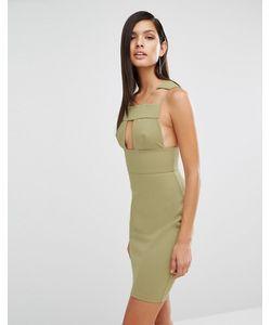 AQ AQ | Платье С Вырезами Aqaq Sibby Тускло-Зеленый