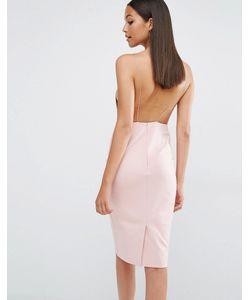 AQ AQ | Платье Миди С Открытой Спинкой Aqaq Cartney Приглушенный Розовый
