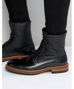 Aldo | Черные Кожаные Ботинки На Шнуровке Scibelli Черный