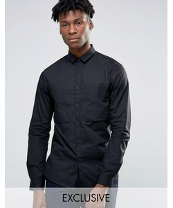 Noak | Рубашка Навыпуск С Большим Карманом Черный