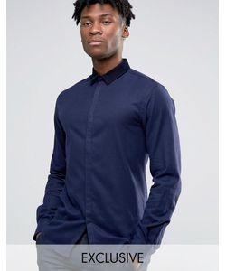 Noak | Облегающая Рубашка Темно-Синий
