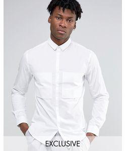 Noak | Рубашка Навыпуск С Большим Карманом Белый