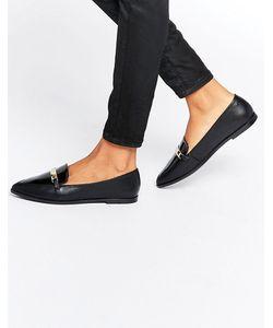 Asos | Туфли На Плоской Подошве С Острым Носом Marsha Черный