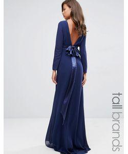 TFNC Tall | Платье Макси С Длинными Рукавами Wedding Темно-Синий