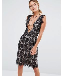 Style Stalker | Кружевное Платье Без Рукавов Stylestalker Черный
