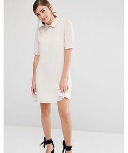 Fashion Union | Цельнокройное Платье С Фигурным Воротником Mink