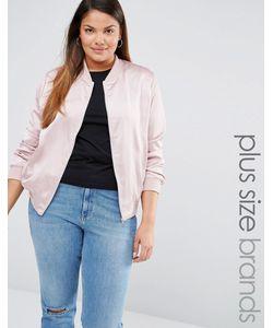 Missguided Plus | Атласная Курткапилот Розовый