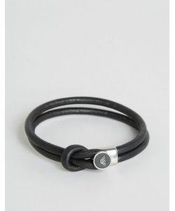 Emporio Armani | Черный Браслет С Логотипом Черный