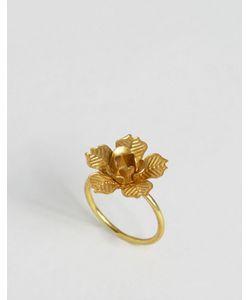 Sam Ubhi | Кольцо С Цветком Золотой