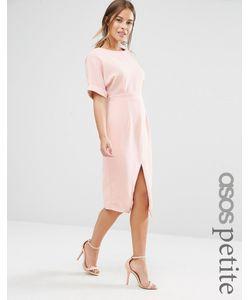 ASOS PETITE | Платье С Разрезом Спереди Телесный