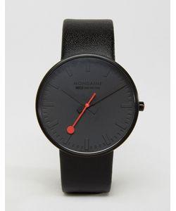 Mondaine | Черно-Белые Часы С Циферблатом Диаметром 42 Мм Giant Черный