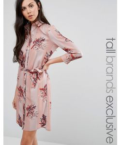 Alter Tall   Платье-Рубашка В Пижамном Стиле Мульти