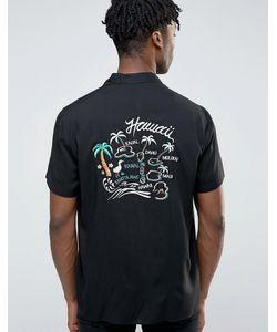 Asos | Вискозная Рубашка Классического Кроя С Вышивкой И Лацканами На Воротнике