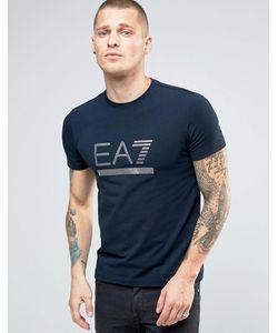 EA7 | Темно-Синяя Футболка С Логотипом Emporio Armani Темно-Синий
