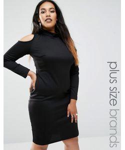 Club L | Платье Миди С Открытыми Плечами Plus Черный