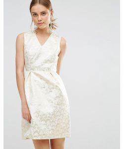 Uttam Boutique | Жаккардовое Платье Золотой