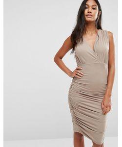 SuperTrash | Присборенное Платье Без Рукавов Day Бежевый