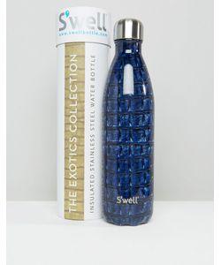S'well | Темно-Синяя Бутылка Объемом 750 Мл С Крокодиловым Принтом Темно-Синий