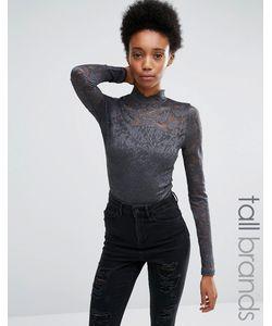 Vero Moda Tall | Кружевное Боди Asphalt