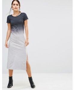 Uncivilised   Платье-Футболка Макси С Эффектом Омбре Canyon Темно-Серый Деграде