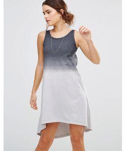 Uncivilised   Платье Асимметричной Длины Темно-Серый Деграде