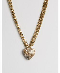 Juicy Couture | Ожерелье С Цепочкой И Сердечком Шампанское