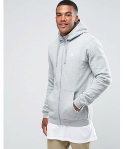 Nike | Серое Худи На Молнии С Логотипом 804389-063 Gy1