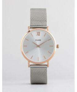 Cluse | Часы Цвета Розового Золота С Серебристым Браслетом Minuit Cl30025